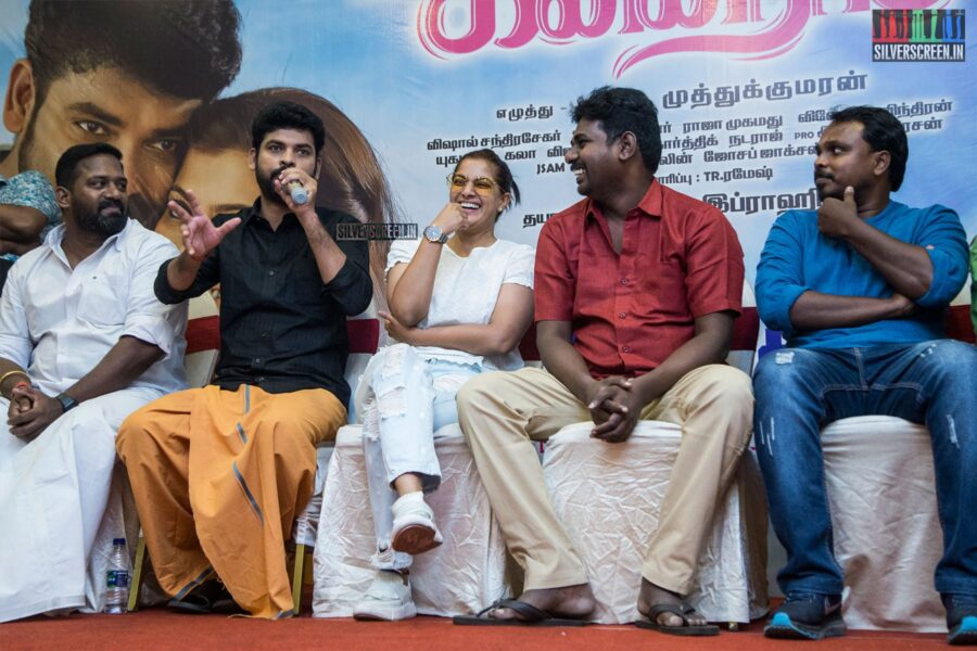 Vimal, Varalaxmi At The 'Kanni Rasi' Press Meet