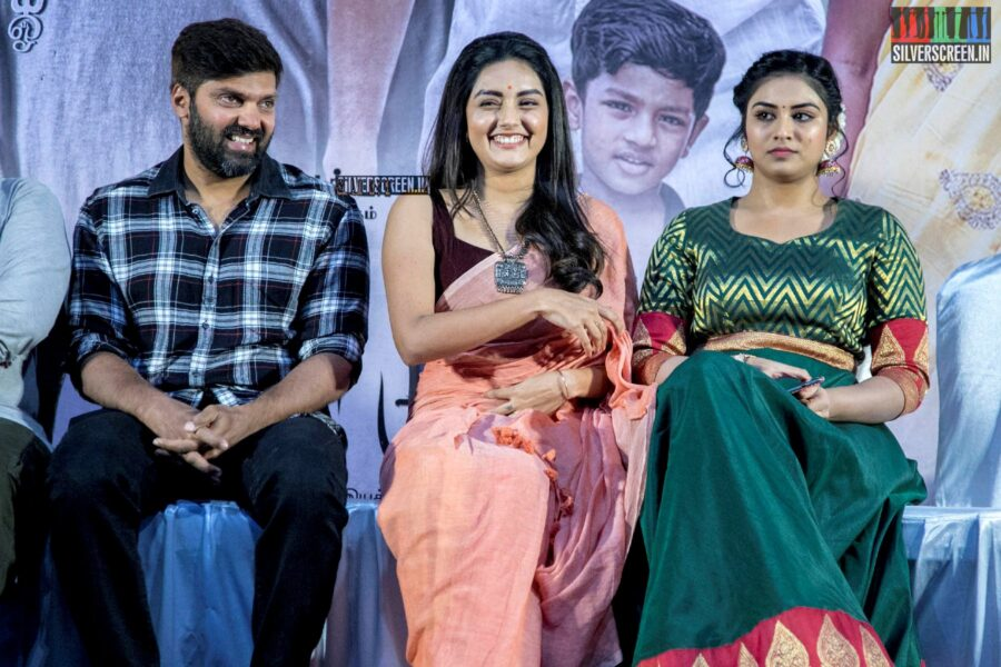 Arya, Mahima Nambiar, Indhuja Ravichandran At The 'Magamuni' Press Meet