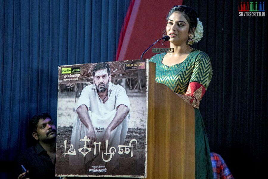 Indhuja Ravichandran At The 'Magamuni' Press Meet