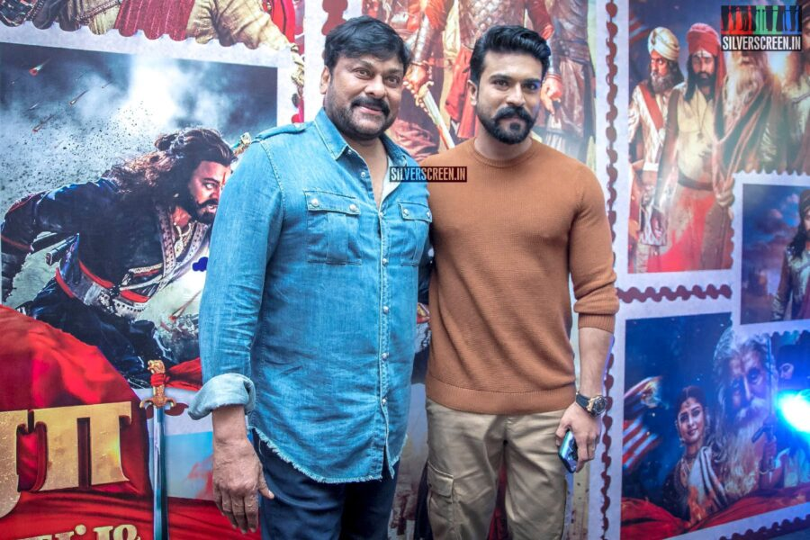 Chiranjeevi, Ram Charan At The 'Sye Raa Narasimha Reddy' Press Meet