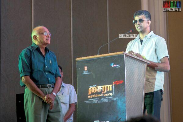 Celebrities At The 'Sye Raa Narasimha Reddy' Press Meet