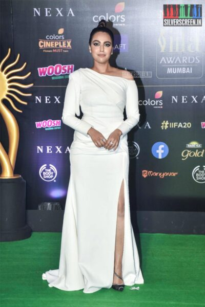 Swara Bhaskar At The 20th 'IIFA Awards 2019' at NSCI, Dome In Mumbai