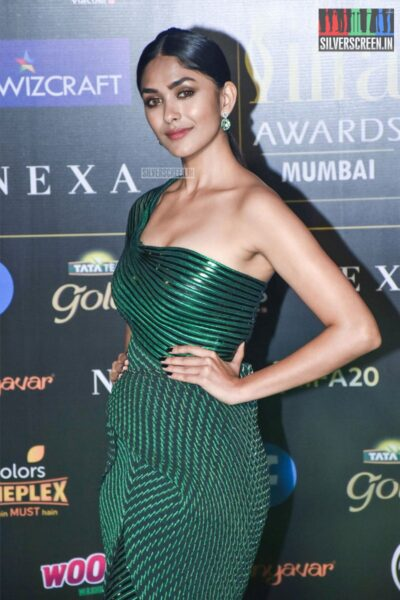 Mrunal Thakur At The 20th 'IIFA Awards 2019' at NSCI, Dome In Mumbai