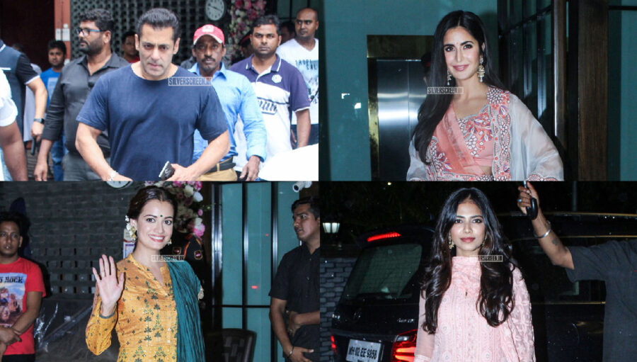 Celebrities At Arpita Khan's Residence For Ganesh Chaturthi Celebrations