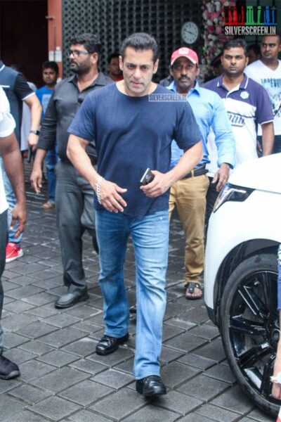 Salman Khan At Arpita Khan's Residence For Ganesh Chaturthi Celebrations