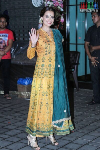 Dia Mirza At Arpita Khan's Residence For Ganesh Chaturthi Celebrations