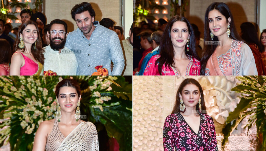 Celebrities At The Ambani's Residence For Ganesh Chaturthi Celebrations