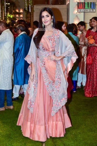 Katrina Kaif At The Ambani's Residence For Ganesh Chaturthi Celebrations