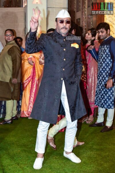 Jackie Shroff At The Ambani's Residence For Ganesh Chaturthi Celebrations