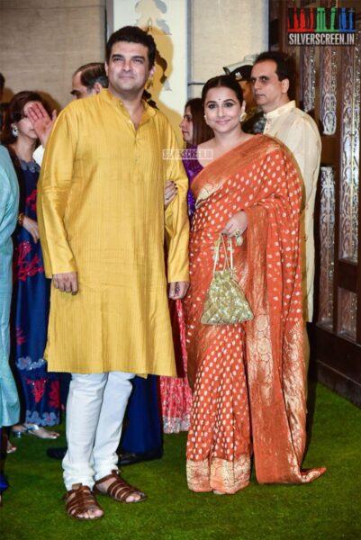 Vidya Balan At The Ambani's Residence For Ganesh Chaturthi Celebrations