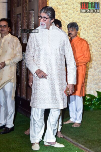 Amitabh Bachchan At The Ambani's Residence For Ganesh Chaturthi Celebrations