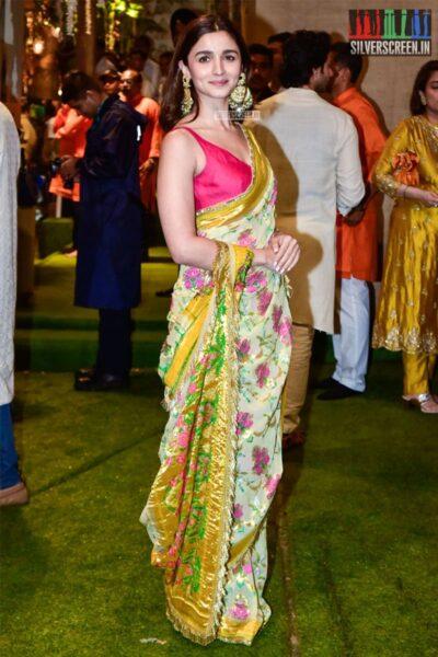 Alia Bhatt At The Ambani's Residence For Ganesh Chaturthi Celebrations
