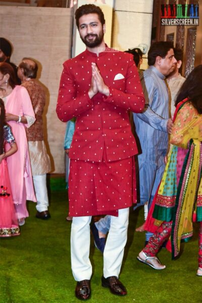 Vicky Kaushal At The Ambani's Residence For Ganesh Chaturthi Celebrations