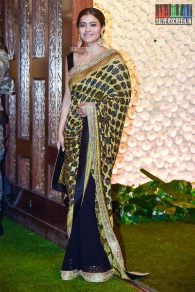 Kajol At The Ambani's Residence For Ganesh Chaturthi Celebrations