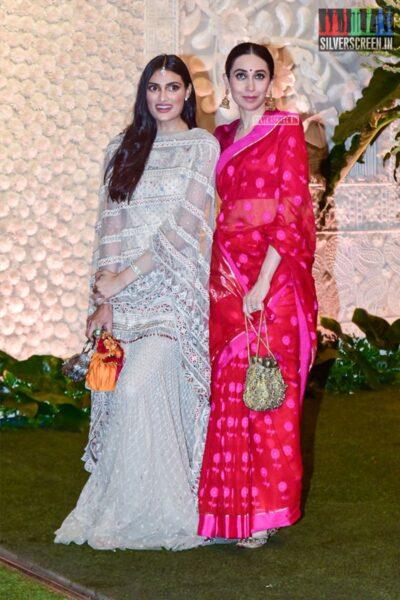 Athiya Shetty, Karisma Kapoor At The Ambani's Residence For Ganesh Chaturthi Celebrations