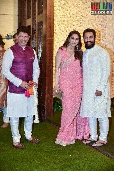 Madhuri Dixit, Aamir Khan At The Ambani's Residence For Ganesh Chaturthi Celebrations