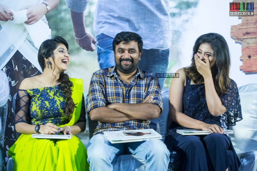 M Sasikumar, Anjali, Athulya Ravi At The 'Nadodigal 2' Press Meet