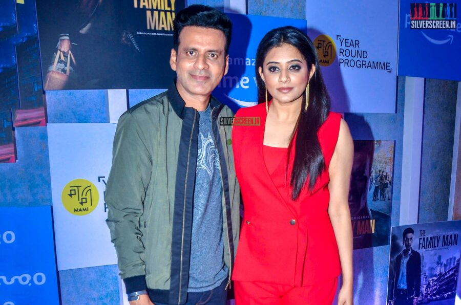 Manoj Bajpayee, Priyamani at 'The Family Man' Premiere