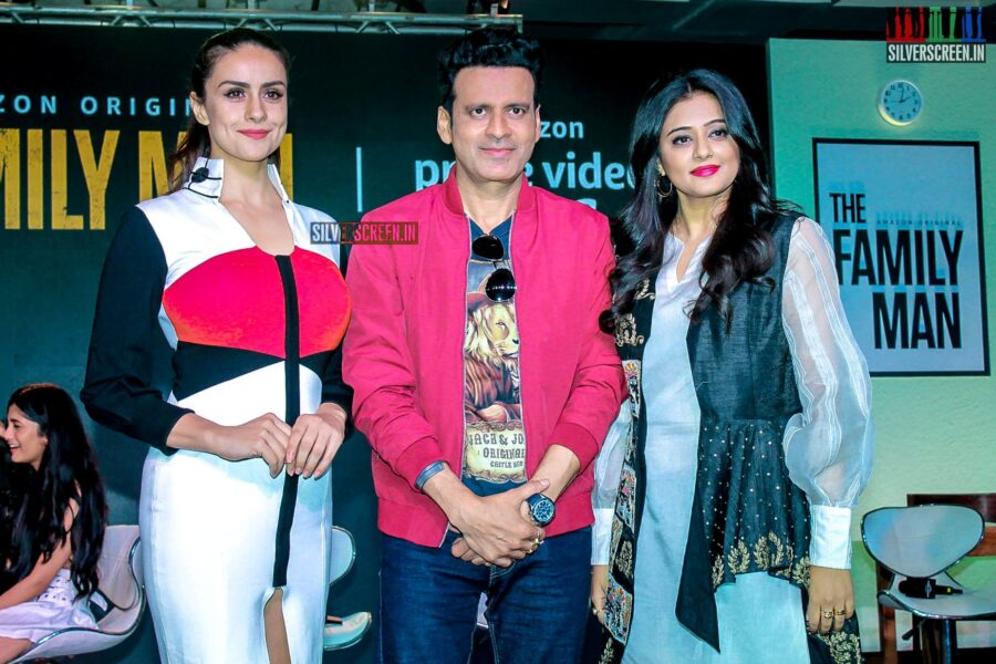 Manoj Bajpayee, Priyamani, Gul Panag At The Launch Of 'The Family Man' Web Series