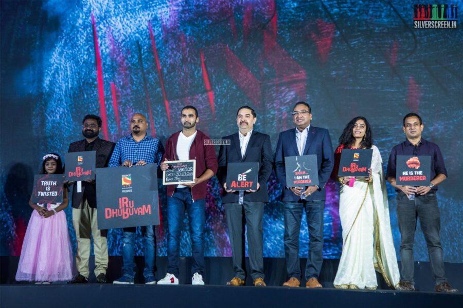 Nandha, Abhirami Iyer At The Launch Of 'Iru Dhuruvam' Web Series