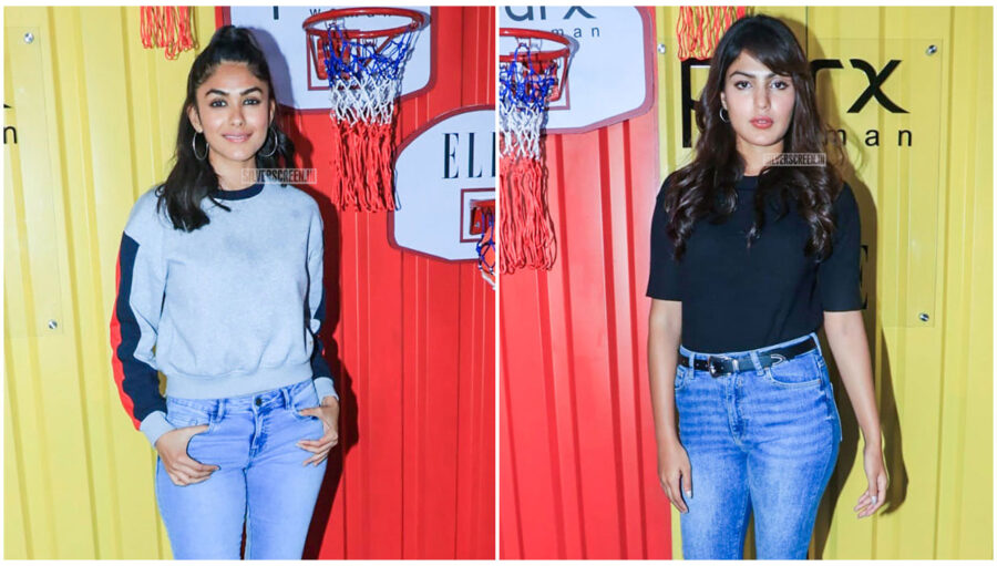 Rhea Chakraborty, Mrunal Thakur At The Launch Of 'The Winter Games' Collection