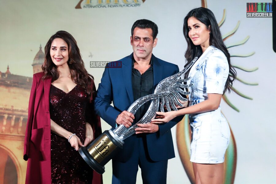 Salman Khan, Katrina Kaif, Madhuri Dixit At The 'IIFA 2019' Press Meet