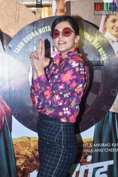 Taapsee At The 'Saand Ki Aankh' Trailer Launch