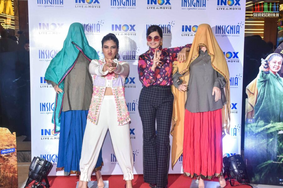 Taapsee, Bhumi Pednekar At The 'Saand Ki Aankh' Trailer Launch