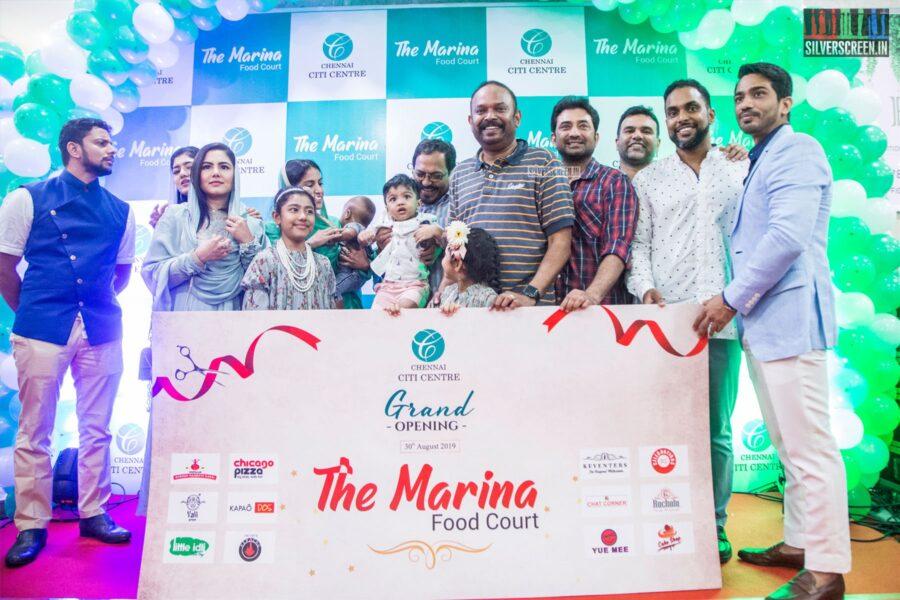 Venkat Prabhu, Aravind Akash At The Launch Of 'The Marina Food Court'