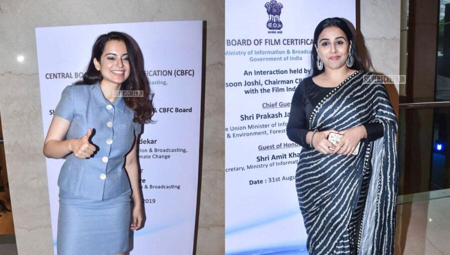 Vidya Balan, Kangana Ranaut At The Launch Of New Look And Certificate Design Of CBFC