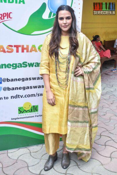 Neha Dhupia At 'Banega Swasth India' Campaign