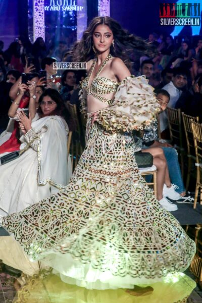 Ananya Panday Walks The Ramp For 'Abhu Jani And Sandeep Khosla'