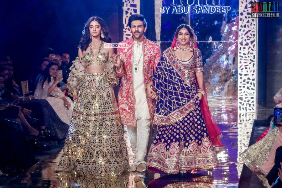 Ananya Panday, Bhumi Pednekar, Kartik Aaryan Walk The Ramp For 'Abhu Jani And Sandeep Khosla'