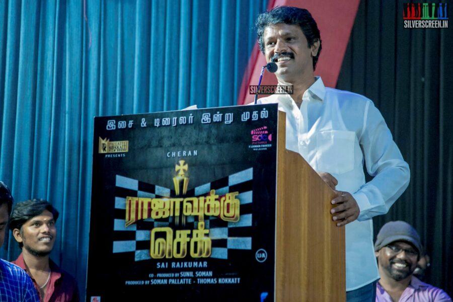 Cheran At The 'Rajavukku Check' Audio Launch