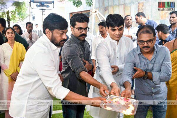 Chiranjeevi At His New Movie Launch Directed By Koratala Siva