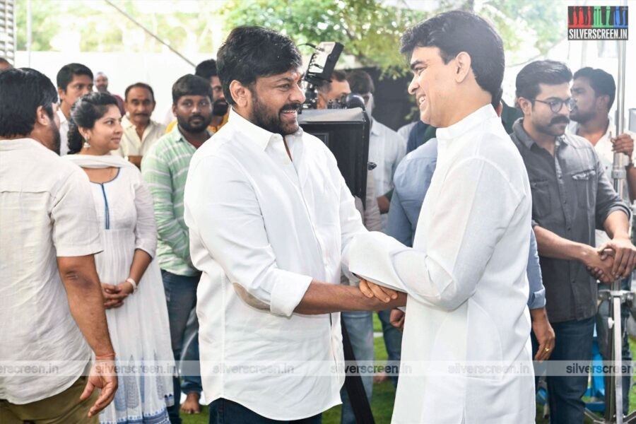Chiranjeevi At His New Movie Launch Directed By Koratala Siva