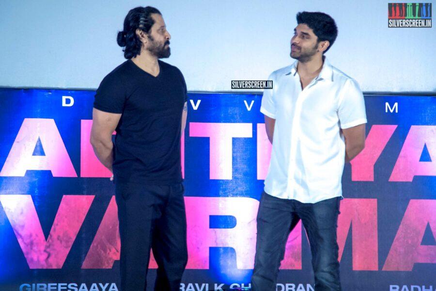 Dhruv Vikram, Vikram At The 'Aditya Varma' Audio Launch