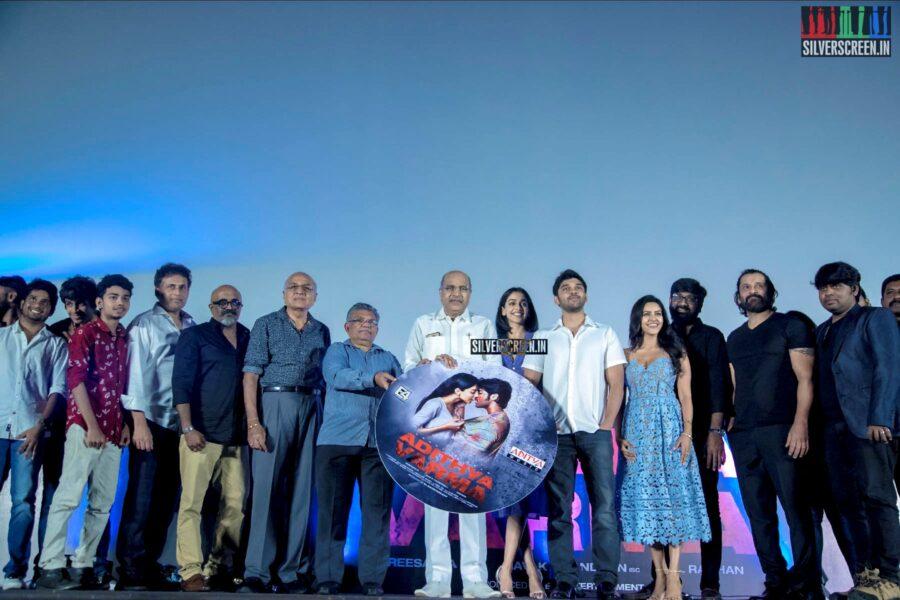 Dhruv Vikram, Priya Anand, Banita Sandhu At The 'Aditya Varma' Audio Launch
