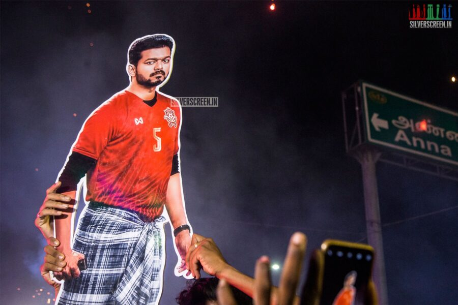 Fans Celebrate Bigil Diwali; At The FDFS In Chennai