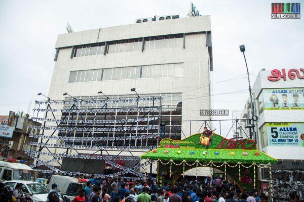 Fans Celebrate Bigil Diwali; At The FDFS In Chennai