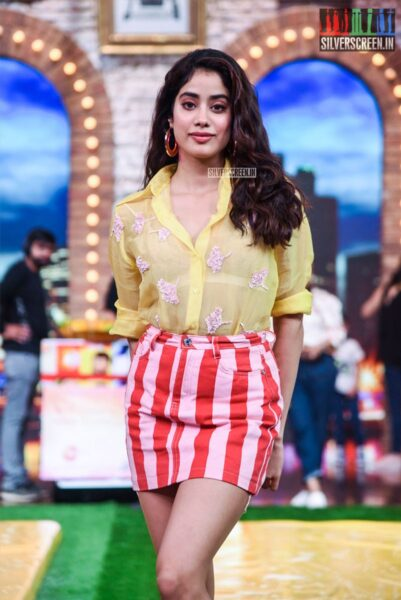 Janhvi Kapoor On The Sets Of 'Movie Masti' With Maniesh Paul Show