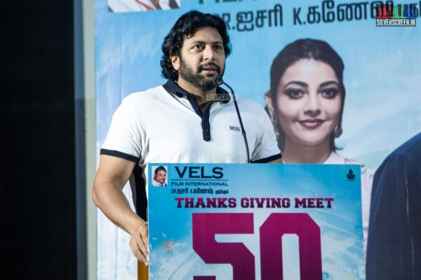 Jayam Ravi At The 'Comali' Thanksgiving Meet
