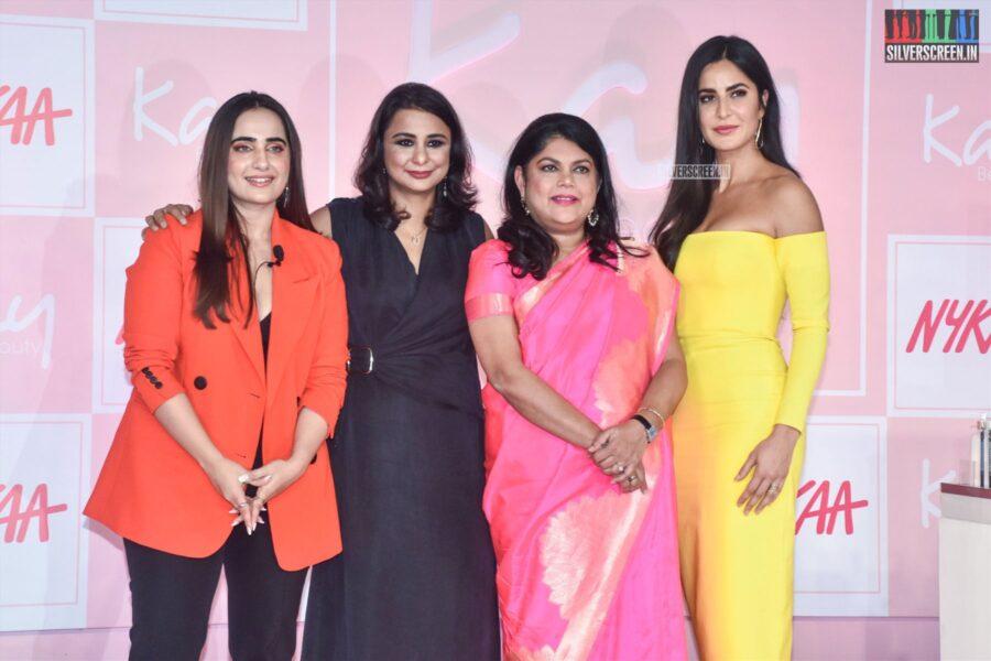 Katrina Kaif, Kusha Kapila, Falguni Nayar At The Nykaa's 'Kay By Katrina' Brand Launch