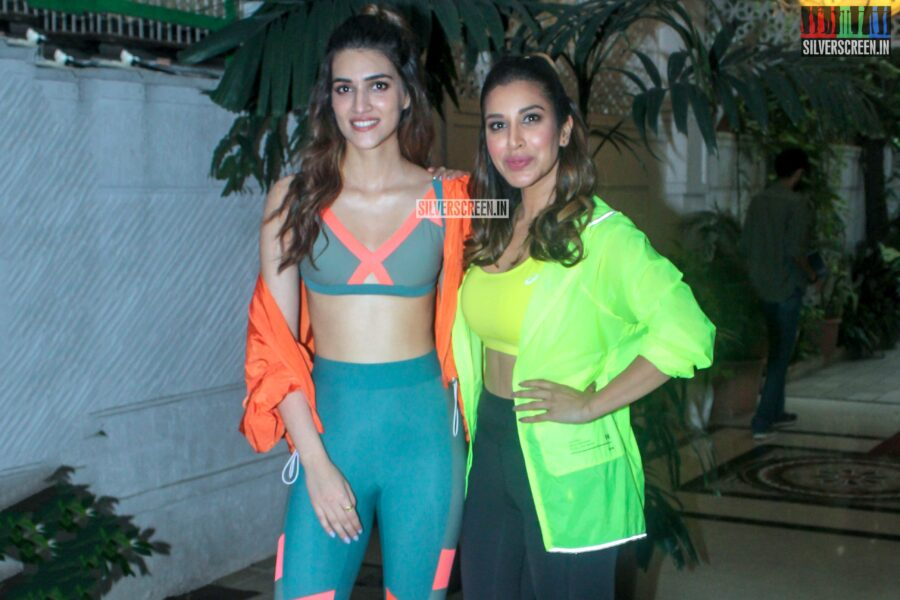 Kriti Sanon, Sophie Choudry At The Shoot For The First Episode Of 'Work It Up'