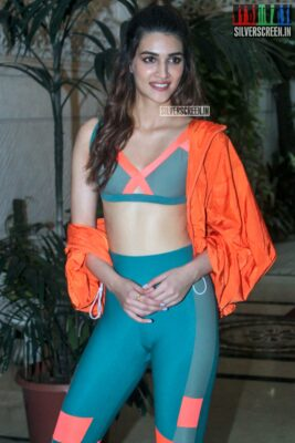 Kriti Sanon At The Shoot For The First Episode Of 'Work It Up'