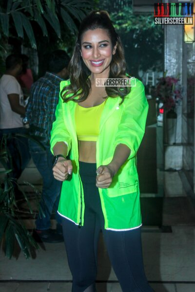 Sophie Choudry At The Shoot For The First Episode Of 'Work It Up'