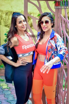 Malaika Arora, Sophie Choudry At 'Work It UP' Fitness Series Shoot