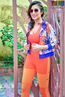 Sophie Choudry At 'Work It Up' Fitness Series Shoot