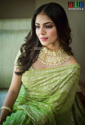 Malavika Mohanan At The 'Thalapathy 64' Movie Launch