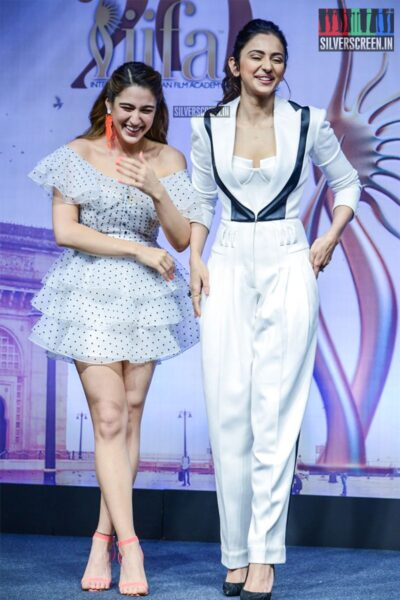 Rakul Preet Singh, Sara Ali Khan At The 'IIFA Awards' Press Meet